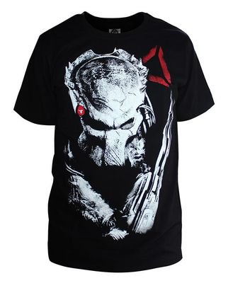 Predators Alien Hunter PREDATOR Pringting Cotton Short Sleeves T-shirt