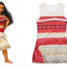 Summer Moana Dress 2017 Brand Children Dresses For Girls Princess Dress Cosplay Clothes