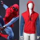 Spider-Man:Homecoming hoodie Cosplay Cotton Sweater men's Hooded SpiderMan zipper Coat