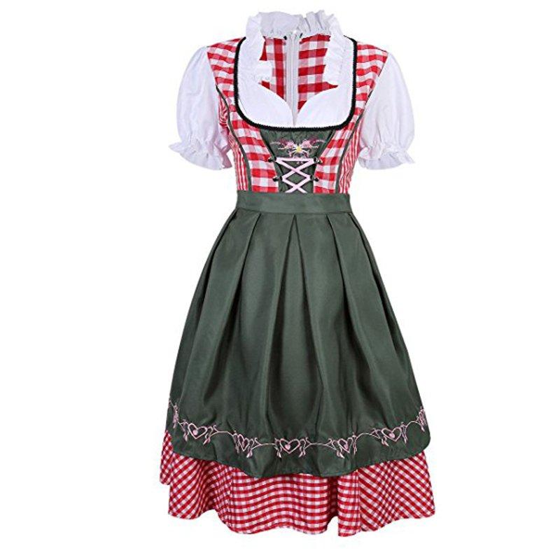 Women's German Dirndl Dress Carnival Maid Lolita Dress Oktoberfest Costume