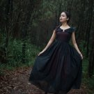 Malena Europen Medieval Dress Vantage Gowns Victorian Gothic Backless Costume with Lace Up
