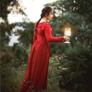 Red Vantage French Dress Cersei Medieval Gothic Costume Women Ball Gown Victorian Dresses