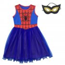 Spiderman Homecoming Cosplay Dress Spider man Costume Girlds Kids Fancy Halloween Clothing