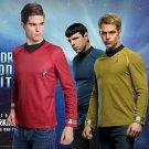 Star Trek Into Darkness Captain Kirk/Spock Shirt Badge Uniform Dress Cosplay Costume Red Version