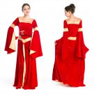 Red Medieval Costume Renaissance Victorian Evening Dress Ball Gown Ball Gowns Vampire Witch Dress
