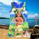 Cartoon Summer Kids Girls Vest Dress Fashion Moana Clothing Cute Design Princess Dress Nightgown