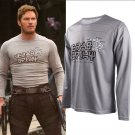 Guardians of the Galaxy 2 Star Lord Shirt Peter Jason Quill Cosplay Costume Long Sleeves T-shirt