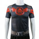 Marvel's Agents of SHIELD Captain America HYDRA T-shirt quick drying Costume Top Tee Clothing