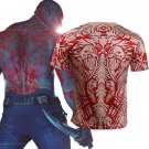 Guardians of the Galaxy Vol. 2 Drax the Destroyer Tattoo Slim Cosplay Short Sleeve T shirts