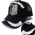 Black Anime Attack on Titan Adjustable baseball cap snapback men women hip hop cap sun hat