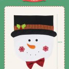 The new Christmas decorations Santa Claus snowman chair cover for the holiday decorations