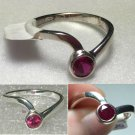 Sterling Silver Created Ruby Ring Sz 6 #10