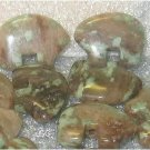 Moss Agate Bear Beads 17x14mm