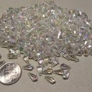Lot of Plastic Aurora Borealis Teardrop Beads