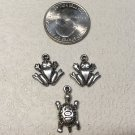 Three Pewter Charms for Crafting