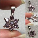 Sterling Silver Created Amethyst Pendant