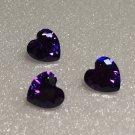7mm Purple Cz Heart