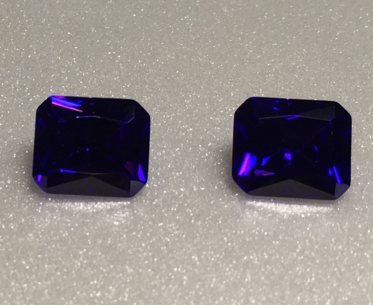 14x12mm Emerald Cut Purple Cz