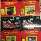 Lot of (4) 1997 Racing Champions 1:144 Scale Die Cast Replicas