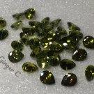 Green Zircon 5x4mm Pearshape