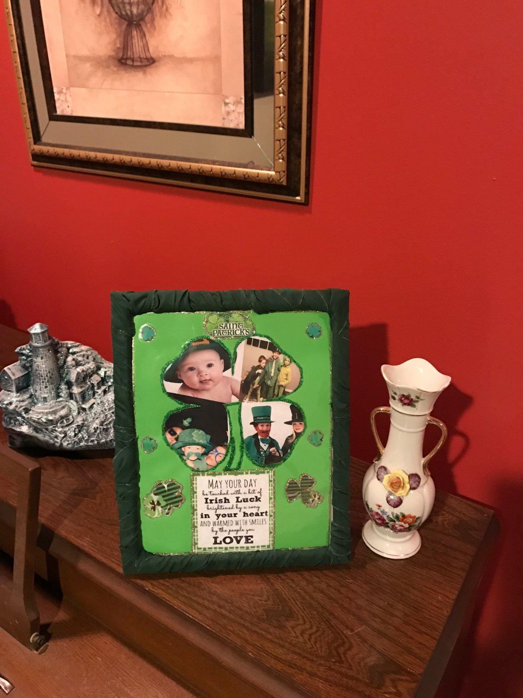 Saint Patrick's Day Decorative Photo Frame-3 interchangeable mat designs