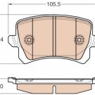 True Ceramic Top Quality Low Dust Brake Pads - Rear- CRD1348 Volkswagen CC