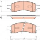 True Ceramic Top Quality Low Dust Brake Pads - Front - CRD1169A Buick Chevrolet