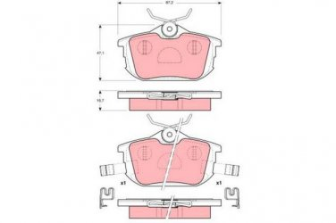 True Ceramic Top Quality Low Dust Brake Pads Fits Volvo S40 V40  -Rear- CRD838