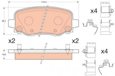 True Ceramic Top Quality Low Dust Brake Pads Fits Jeep Cherokee Rear - D1734
