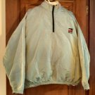 Surf Style irridescent green Q-Za vintage nylon beach pullover windbreaker OSFA