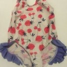 Dippin Daisey's Swimsuit Toddler Girls Size 3T 1 Piece Modest White Pink Berries