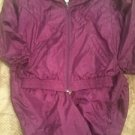 Vintage Windbreaker Small Petite Women's Purple 2 Piece Jacket Pants Windsuit Ps