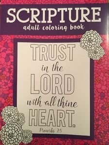 Adult Coloring Book Religious Inspirational Bible Scripture Stress Relief