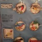 Paragon Snip N Stuff Christmas Ornaments Kit Wild Birds 6715 Set Of 6 Stitched