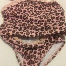 Cabana Life Swimsuit oddler Girls Size 2T 2 Piece Tankini Pink Brown Leopard Pri