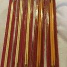 """5 Pairs Vtg Boye Balene 14"""" Knitting Needles 14k Gold Plated Caps Various Sizes"""