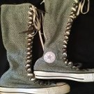Converse All Star Chuck Taylor Extra Hi Top Double Lace Woven Goth Women's 9