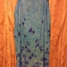 Blue Sleeveless 22W Dress Womens Expressions Plus Flowers Long Modest Purple