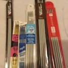"6 Pairs Vtg Knitting Needles Leisure Arts Various Sizes Made In England 10"" 14"""