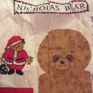 Vintage Christmas Bear Fabric Saint Nicholas Pattern DIY