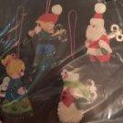 Bucilla Felt Christmas Ornaments. Kit 48781 Wind Up Toys Set Of 4 Jewel Stitched
