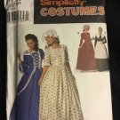 Simplicity Costume Pattern 9713 D Women's Dress Puritan Centennial 4 6 8 Bonnet
