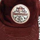 Hard Rock Cafe Heartbreaker 1971 Destin Dark Red Pink Corduroy Adjustable Hat