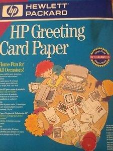 HP Greeting Card Paper Heavy 90-lb Stock 20 Sheets & Envelopes Party Holiday DIY