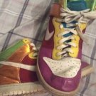 Nike Zoom Womens Dunk High Premium Metallic Rainbow Shoes Size 10 317814-111