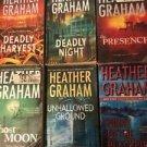 Lot of 6 Heather Graham Paranormal Romance books Flynn Brothers Bone Island