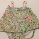 Kate Mack Swimsuit Toddler Girls Size 18M 2 Piece Tankini Pink Blue Green Circle