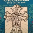 Adult Coloring Book Religious Inspirational Bible Crosses Stress Relief