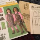 Simplicity Patterns 2483 Toddler Girls A 2 3 4 5 6 6x Jumper Skirt Pants Vest