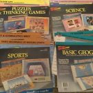 Geosafari Jr Cards Lot Of 4 Packs 40 Double Sided Sports Science Geography Puzzl